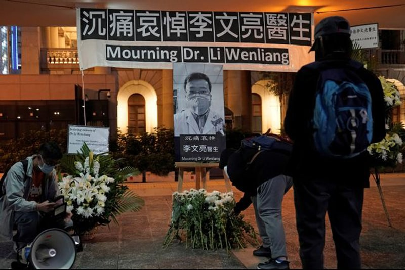 Karangan-Bunga-Penghormatan-Terakhir-Dokter-Li-Wenliang-4