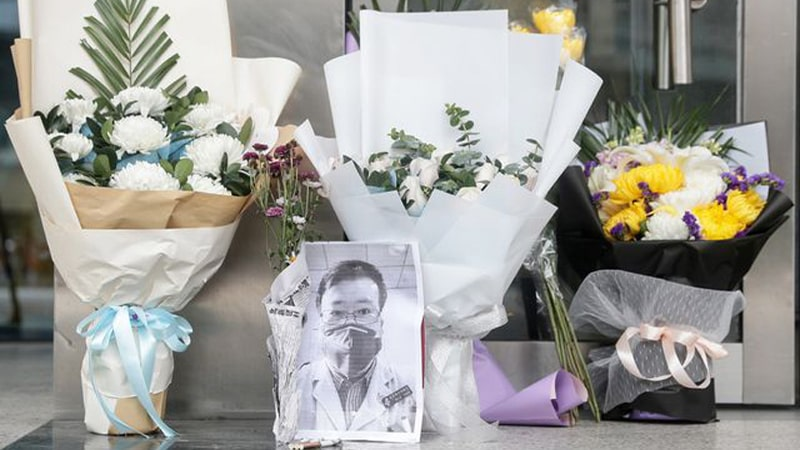 Karangan-Bunga-Penghormatan-Terakhir-Dokter-Li-Wenliang