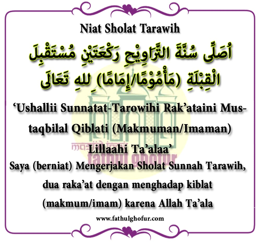 Niat-Sholat-Tarawih