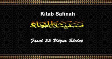 Fasal-22-Udzur-Sholat