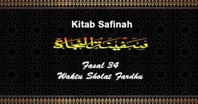 Fasal-34-Waktu-Sholat-Fardhu-Safinah