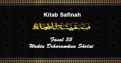 Fasal-35-Waktu-Diharamkan-Sholat-Safinah