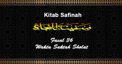 Fasal-36-Waktu-Saktah-Sholat