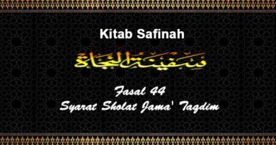 Fasal-44-Syarat -Sholat-Jama'-Taqdim