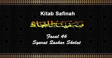 Fasal-46-Syarat-Qashar-Sholat