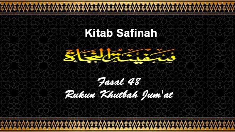 Fasal-48-Rukun-Khutbah-Jum'at