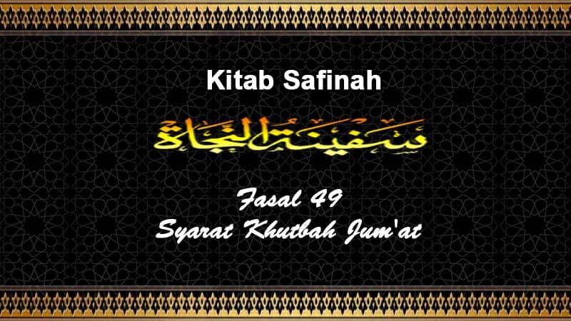 Fasal-49-Syarat-Khutbah-Jum'at