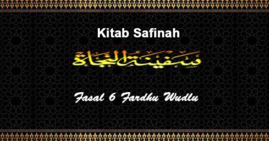 Fasal-6-Fardhu-Wudhu-Safinah